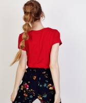 camiseta-manga-corta-roja